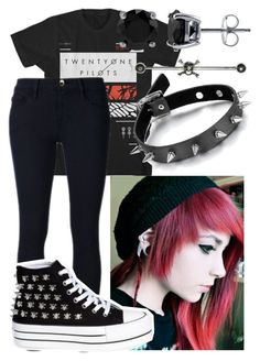 """""""Emo"""" by moonlight-princess-of-the-stars ❤ liked on Polyvore featuring Frame Denim and BERRICLE"""