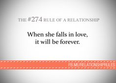 The #274 Rule of a Relationship