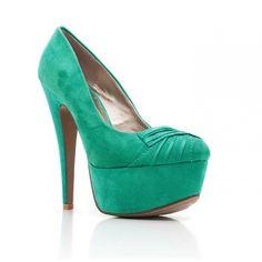 Zielone czółenka. Eleganckie zamszowe buty na wiele okazji.