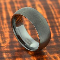 Tungsten Wedding Band Brushed Polish 8MM-Wedding by Silvershowroom