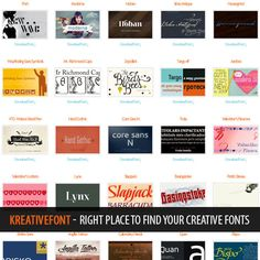 KreativeFont - Right Place to Find Your Creative Fonts