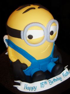 3D Cheeky Minion Birthday Cake  by Nada's Cakes Canberra-