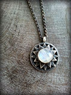 Celeste Necklace Sterling Faceted Moonstone Gems by TandBrie   #Moonstone