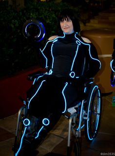 Stellar Four: The Best Wheelchair Cosplay - Tron>>> See it. Believe it. Do it. Watch thousands of spinal cord injury videos at SPINALpedia.com
