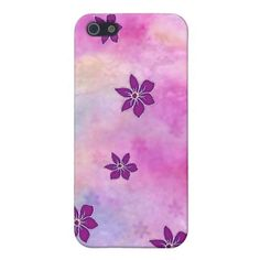 Pointy Dark Flowers on Colorful Watercolors Covers For iPhone 5
