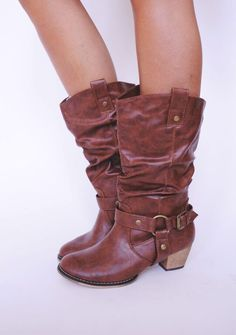 Tan Cowgirl Boot - Dottie Couture Boutique