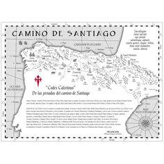 Mapa Codex Calixtinus