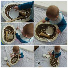 Su primera cesta de tesoros - Her first treasure basket • Montessori en Casa