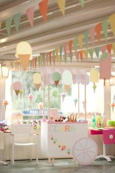 Ice Cream Cart Birthday Party | 10 Kids Party Settings - Tinyme Blog