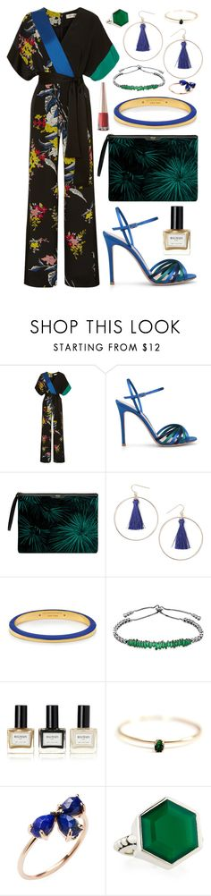 """Untitled #183"" by vickyfang on Polyvore featuring Diane Von Furstenberg, Wouf, Miss Selfridge, Henri Bendel, Saks Fifth Avenue, Balmain, Puma, Jacquie Aiche and Stephen Dweck"