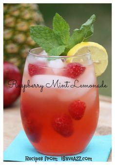 Raspberry Mint Lemonade!  YUM!