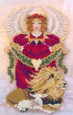 Brooke's Books Spirit of Christmas Angel Ornament Cross Stitch Chart Only