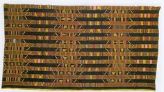 Ewe men's cloth, collected by E. Gutschow, 1910 in Keta, Ghana. Museum fur Volkerkunde, Dresden. Accession number 29 744. http://adireafricantextiles.blogspot.co.uk/2015/02/cloth-of-month-ewe-chiefs-robe.html