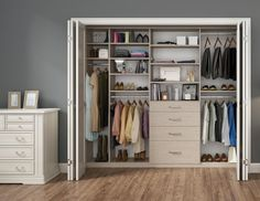 Custom reach-in closets offers space saving solutions unique to your home storage problems. Let California Closets help you get your home organized.