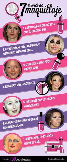 7 Errores de maquillaje | BdeBelleza.com