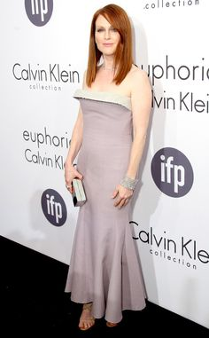 The Maps to the Stars actress was perfectly poised in this Calvin Klein lavender gown at the euphoria Calvin Klein exclusive party celebrating women in film.