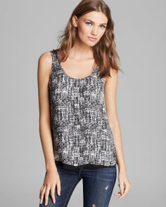 Vince Tank - Double Layer Silk | Bloomingdale's