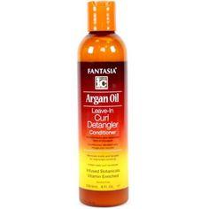 Fantasia Argan Oil Leave-In Curl Detangler Conditioner, 8 oz (Pack of 3)