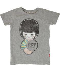 Name It lichtgrijze organische t-shirt met BFF print. name-it.nl.emilea.be