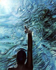Ana Teresa Fernandez's amazing oil painting.