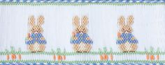 smocking pattern for easter eggs Smocking Plates, Smocking Patterns, Baby Dress Patterns, Embroidery Patterns, Sewing Basics, Sewing Hacks, Sewing Projects, Sewing Ideas, Peter Rabbit And Friends