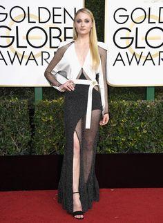 Sophie Turner in Louis Vuitton (Golden Globes)