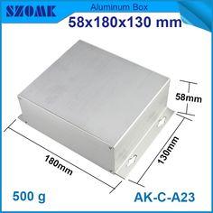 1 pcs/lot  aluminum din rail enclosure extruded aluminum box  pcb aluminium box outdoor 58(H)x180(W)x130(L) mm