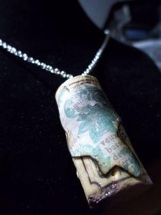 wine cork pendant