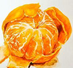 Watercolor Fruit, Watercolor Flowers, Watercolor Paintings, Watercolors, Fruits Drawing, Food Drawing, Food Illustrations, Illustration Art, Fruit Painting