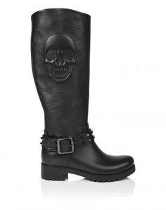 Женская обувь Philipp Plein: туфли-лодочки, сапоги и ботинки, обувь на плоской подошве | Philipp Plein