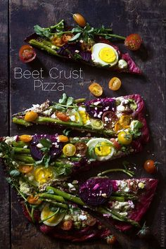 Beet crust pizza from Bakers Royale. Soft-boiled eggs on a pizza: be still my heart! Id swap out the goat cheese, though, for something less yucky. Pizza Recipes, Veggie Recipes, Vegetarian Recipes, Cooking Recipes, Healthy Recipes, Beet Recipes, Easy Recipes, Comida Pizza, Pizza Baker