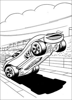 Hot Wheels Fargelegging for barn. Tegninger for utskrift og fargelegging nº 6