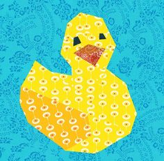 Ducky paper pieced quilt block pattern PDF by BubbleStitch on Etsy, $2.70  I am not one who sews, but... I know someone who does who loves duckies!!!