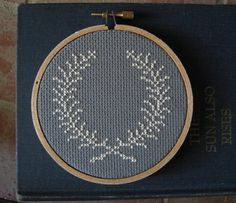 modern cross-stitch pieces from Kimberly at chez sucre chez