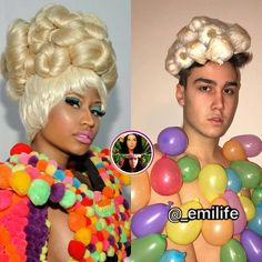 A guy famous on internet originally from Italy recreated the celebrities photos in funny way. Funny Pix, Cute Funny Quotes, Funny Photos, Funny Jokes, Hilarious, Crazy Funny, Funny Stuff, Celebrity Outfits, Celebrity Pictures