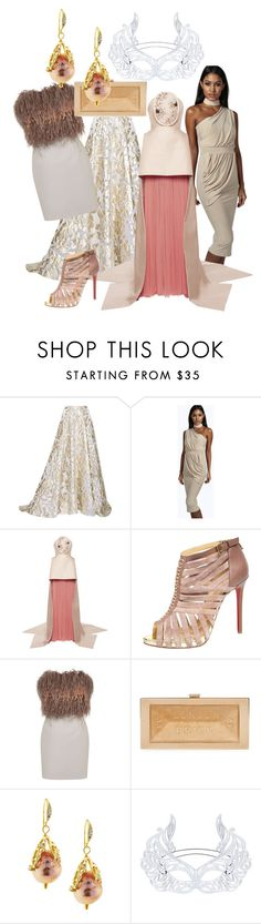 glit by dodo85 on Polyvore featuring Delpozo, Unique, Boohoo, Lela Rose, BCBGMAXAZRIA, Christian Louboutin, Anya Hindmarch and Indulgems