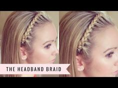 The Headband Braid by SweetHearts Hair - YouTube