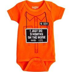 Pin for Later: Forget the Costume, and Try One of These Halloween Onesies For Baby! Not-So-Scary Monster For any baby who's bad to the bone, this Sara Kety jail jumpsuit onesie ($20) will do just fine.
