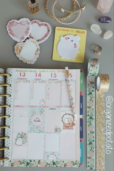 free vintage easter floral printable featuring molang and hello kitty! #organizedpotato #planwithpotato #happyplanner #washi #printable