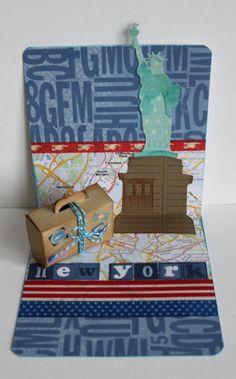Geldgeschenk für eine Reise nach New York von Perlen und Papier auf DaWanda.com