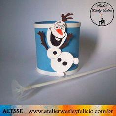 """Centro de Mesa """"Frozen"""" - Atelier Wesley Felício #Artesanato #Crafts #Handmade #Festa #Infantil #Decoração #Party #Frozen #Eva #Aniversário"""