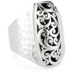 "LOIS HILL ""Cage"" Tapered Rectangle Band Ring  Oh yes please!"