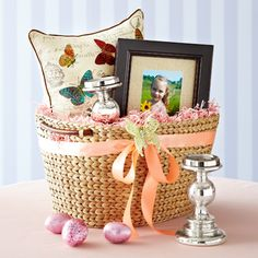 A grown up easter basket for the young at heart adult easter cute easter basket for an adult negle Image collections