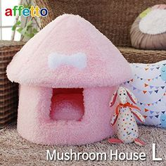 Mushroom House Pink Large * Additional details at the pin image, click it  : Dog house