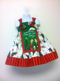 Dr Seuss Christmas dress  Grinch dress size 3T ready to ship