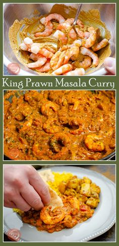 Why not make your own curry so much healthier cheaper and this one is even quicker than ordering a takeaway. Our easy King Prawn Masala Curry is the perfect meal for any day of the week. Using Cooked King Prawns brings it to the table quicker than ever. Curry Recipes, Fish Recipes, Seafood Recipes, Indian Food Recipes, Beef Recipes, Salad Recipes, Chicken Recipes, Cooking Recipes, Dinner Recipes