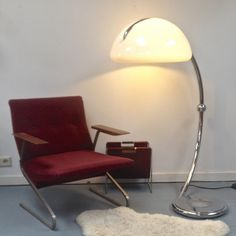 Located using retrostart.com > Floor Lamp by Elio Martinelli for Martinelli Luce