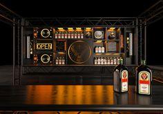 Jagermeister Bar event on Behance Diy Garage Storage, Mobile Bar, Bar Counter, Distillery, Liquor Cabinet, Display, Behance, Home Decor, Design Ideas