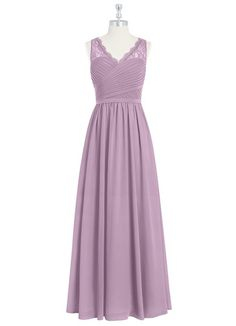 AZAZIE BEVERLY. Beverly is a chic floor-length A-line cut bridesmaid dress in simple chiffon and lace. #Bridesmaid #Wedding #CustomDresses #AZAZIE