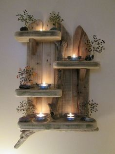 Magical Unique Driftwood Shelves Solid Rustic Shabby Chic Nautical Artwork in Home, Furniture & DIY, Furniture, Bookcases, Shelving & Storage | eBay!